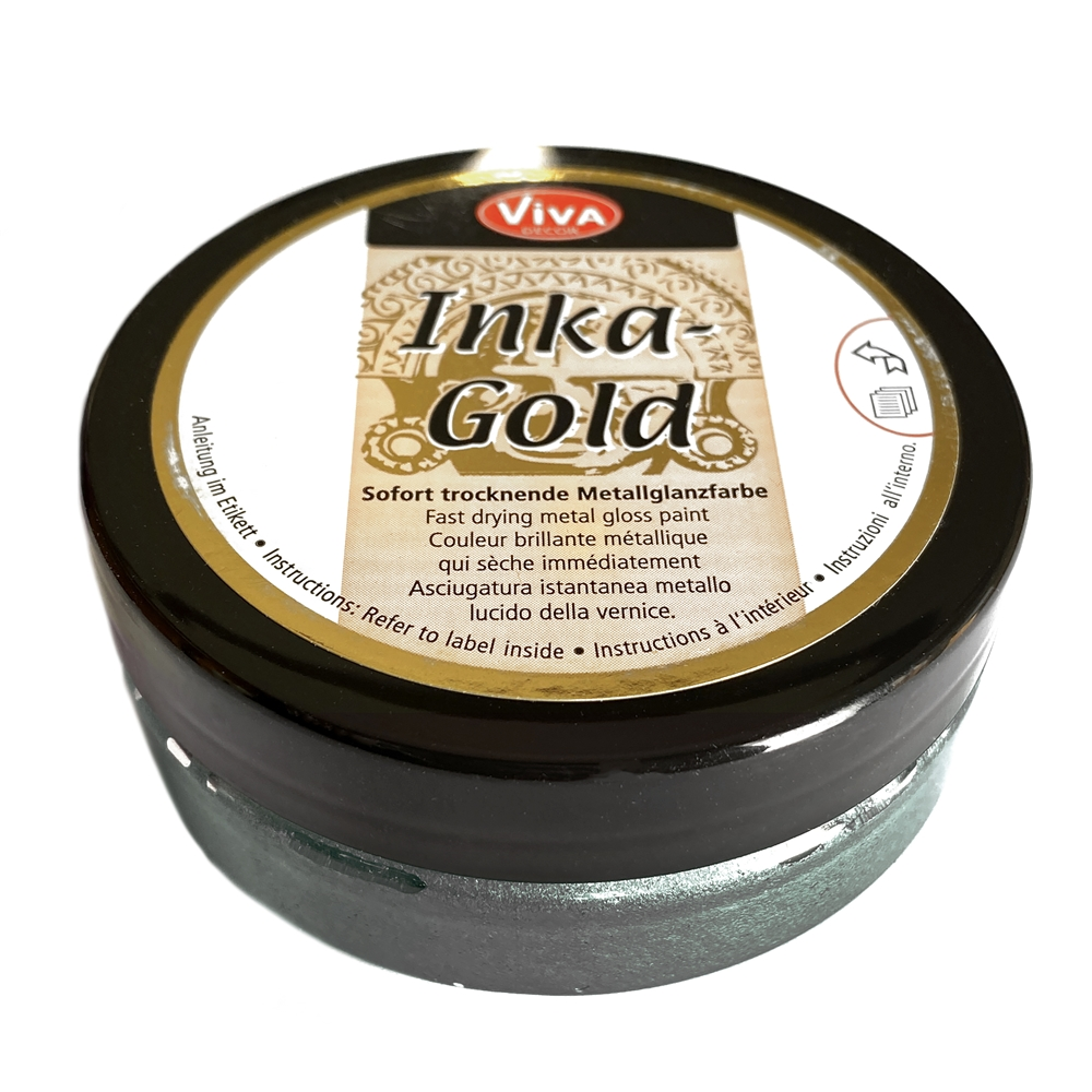 viva decor inka-gold haematite, haematite paint, inka-gold haematite, metal gloss paint, inka-gold, fast drying paint, jewelry metal paint, jewelry making, jewelry findings, jewelry paint, vintage supplies, jewelry supplies, B'sue Boutiques, 02734