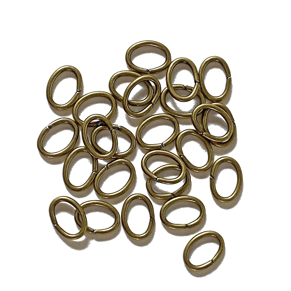 Oval jump rings, 6x8mm, 02821, brass ox finish, B'sue Boutiques, Jewelry Supplies, extra large jump rings, thick jump rings, purse hardware, heavy silver jump rings, B'sue Boutiques, designer jump rings, dangling hoop earrings, purse hardware
