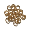 Twisted Wire Jump Rings, Bright Gold, 02835, 8mm, designer findings, twisted jumps, textural jumps, ornamental jump rings, bright and blingy, blingy ornaments, silver ornaments, B'sue Boutiques, 18mm twisted wire jump rings, earrings, designer earrings
