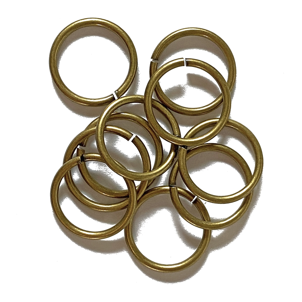 Heavy Jump Rings, 15 mm, 15 gauge, 02829, brass ox finish, B'sue Boutiques, Jewelry Supplies, extra large jump rings, thick jump rings, purse hardware, heavy silver jump rings, B'sue Boutiques, designer jump rings, dangling hoop earrings, purse hardware