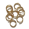 Heavy Jump Rings,  12mm, 13 Gauge, 02828, rich gold finish, B'sue Boutiques, Jewelry Supplies, extra large jump rings, thick jump rings, purse hardware, heavy silver jump rings, B'sue Boutiques, designer jump rings, dangling hoop earrings