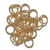 Twisted Wire Jump Rings, Bright Gold, 02835, 10mm, designer findings, twisted jumps, textural jumps, ornamental jump rings, bright and blingy, blingy ornaments, silver ornaments, B'sue Boutiques, 10mm twisted wire jump rings, earrings, designer earrings