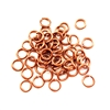 brass jump rings, 6mm, 18 gauge, gingerbread brass, jump rings, jewelry supplies,  jewelry making supplies, beading supplies, vintage jewelry supplies, antique copper