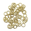jump rings, 6mm, 18 gauge, satin matte gold plate, jump rings, jewelry supplies,  jewelry making supplies, beading supplies, vintage jewelry supplies, matte gold