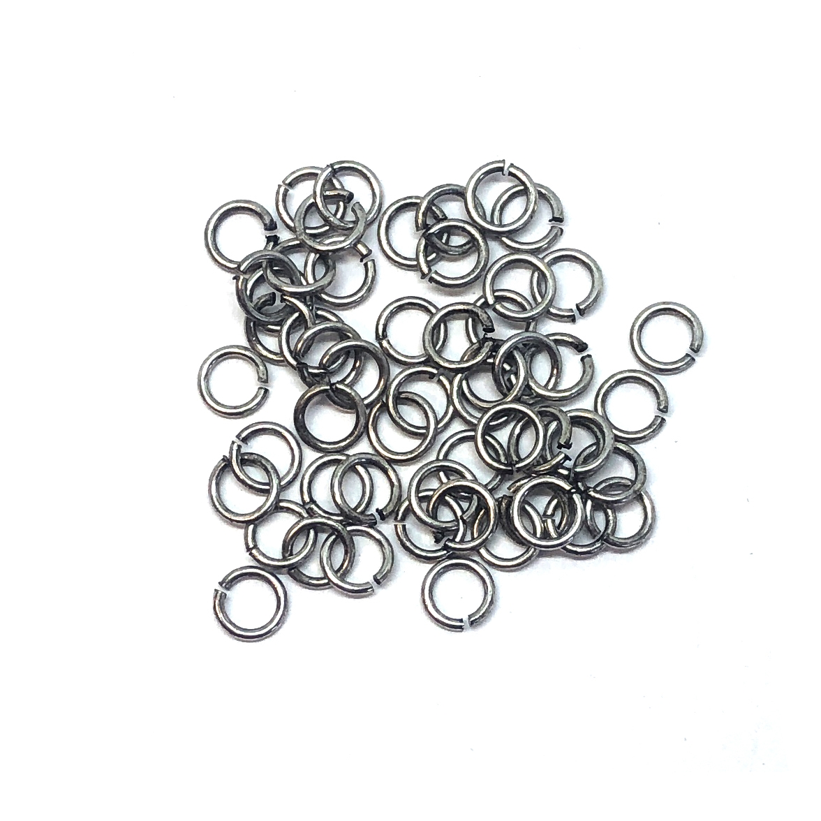 Jump Rings, 4mm, 21 gauge, Antique Silver