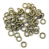 Anitque Brass Jump Rings, Jump Rings, Jumps, Rings, 4mm, 18 Gauge, Anitque Brass, Brass, 50 piece, Anitque, Brass Stamping, Us Made, Nickel Free, B'sue Boutiques, Jewelry Findings, Vintage Supplies, Jewelry Supplies, Jewelry Making, Basic Jewelry, 03512