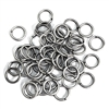 jump rings, jewelry supplies, 8mm, 18ga, jewelry making supplies, beading supplies, vintage jewelry supplies, antique silver, silver plate