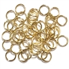 Matte Gold Jump Rings, Jumps, Jump Rings, Matte Gold, Gold, 8mm, 18 Gauge, Rings, Satin Matte Gold Plate, Satin, Brass Stamping, Gold Plate, 50 pieces, Us Made, Nickel Free, B'sue Boutiques, Jewelry Findings, Vintage Supplies, Jewelry Supplies, 04115