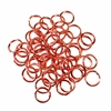 jump rings, jewelry supplies, 8mm, 18ga, jewelry making supplies, beading supplies, vintage jewelry supplies,  old rose ox, bright copper