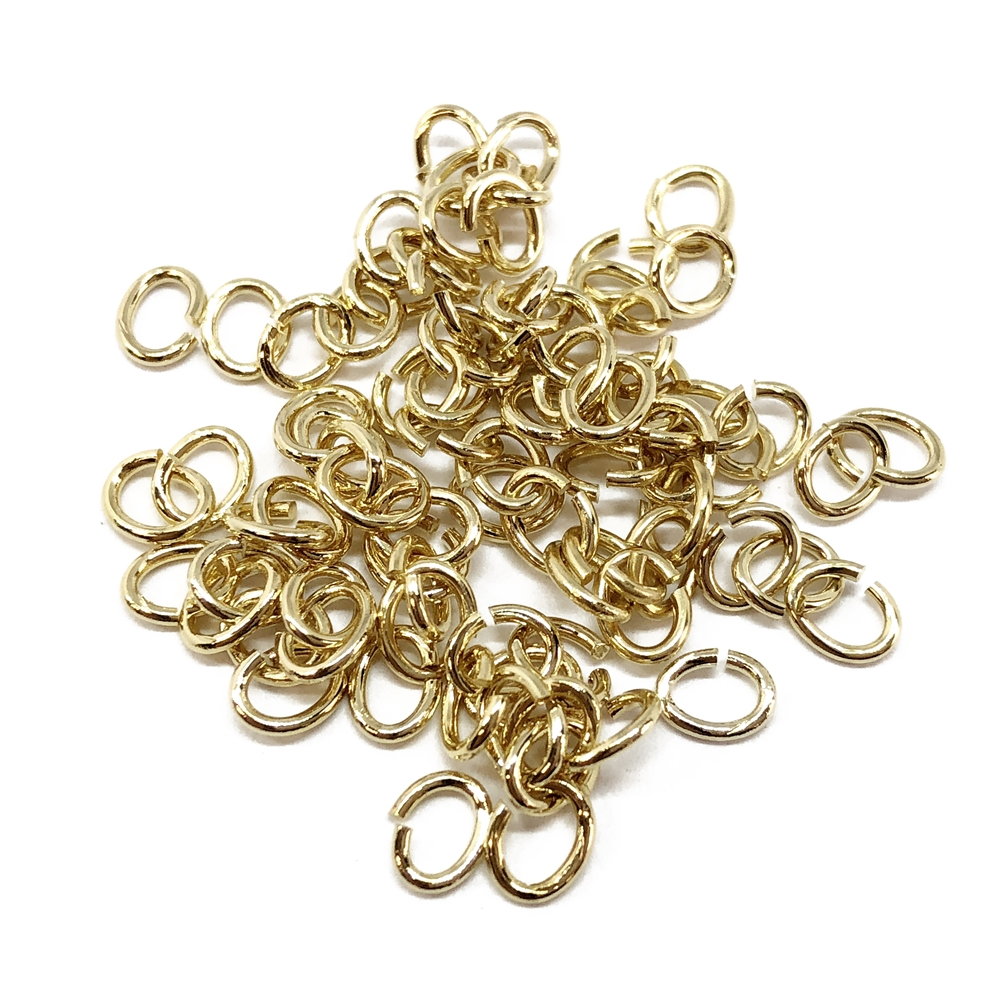 jump rings, jewelry supplies, 5x4mm, 20ga