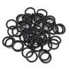 Matte Black Jump Rings, Jump Rings, Jumps, 8mm, 18 Gauge, Matte Black, Black, Rusty Black with Copper Base, 50 pieces, Brass Stamping, us made, Nickel free, B'sue Boutiques, Jewelry Findings, Vintage Supplies, Jewelry Supplies, Brass Base Plate, 04871