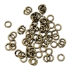 antique brass gold, jump rings, jump rings, jumps, rings, 3mm, 22 gauge, brass ox, 50 piece, antique, brass stamping, US made, nickel free, B'sue Boutiques, jewelry findings, vintage supplies, jewelry supplies, jewelry making, basic jewelry, 05252