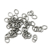 jump rings, jewelry supplies, 5 X 4mm, antique silver, vintage jewelry supplies, jewelry making supplies, jewelry connectors, 05256
