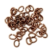 jump rings, jewelry supplies, 5 x 4mm, antique copper, vintage jewelry supplies, jewelry making supplies, jewelry connectors, 05257