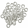 Jump Rings, jewelry supplies, 6mm, silver plate, bright silver jump rings, jump rings, jumps, rings, antique silver, antique silver plated, silver, 6mm, 18 gauge, 50 pieces, brass stamping, US made, nickel free, B'sue Boutiques, jewelry supplies, jewelry