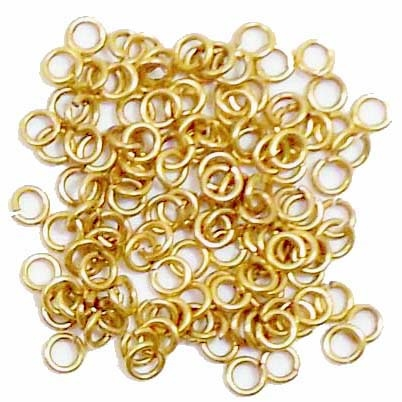 jump rings, 4mm, 18 gauge, gold plate, jump rings, jewelry supplies,  jewelry making supplies, beading supplies, vintage jewelry supplies, antique gold