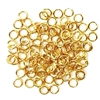 Jump Rings, 4mm, 18 Gauge, Goldplate