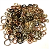 Mixed Jump Rings, Assorted Sizes, Colors, Sizes, Mixed, Jump Rings, Jumps, Rings, Silver, Brass Ox, Matte Black, Black, Gold, Copper, 200 pieces, .7oz, Us Made, Nickel Free, B'sue Boutiques, Jewelry Findings, Vintage Supplies, Jewelry Supplies, 05648
