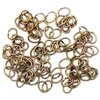 jump rings, jewelry supplies, 5 x 4mm, antique brass, vintage jewelry supplies, jewelry making supplies, jewelry connectors, 05652