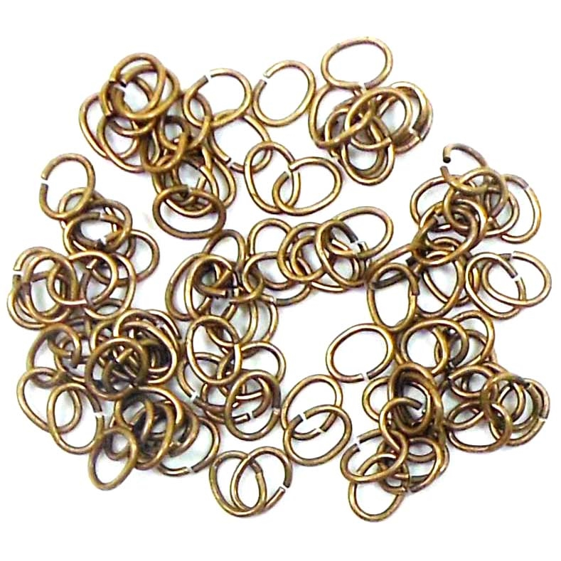 jump rings, jewelry supplies, 6 x 4mm