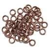 Jump Rings, jewelry supplies, 6mm, 18ga, antique copper, copper ox, jewelry making supplies, vintage jewelry supplies, jump rings, jewelry findings, brass findings, 05829