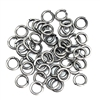 jump rings, antique silver, 6mm, 18 gauge, 05830, jewelry making supplies, vintage jewelry supplies, brass jewelry parts, nickel free, US Made, bsue boutiques