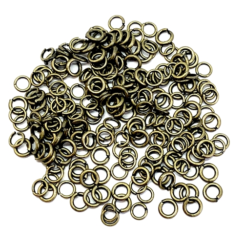 antique brass, mixed jump rings, jump rings, jumps, 06435, rings, 4 and 5mm, 18 and 22 gauge, brass ox, US made, nickel free, B'sue Boutiques, jewelry findings, vintage supplies, jewelry supplies, jewelry making, basic jewelry,