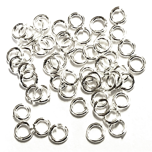Jump Rings, 3mm, 22 gauge, Bright Silver, 06437, vintage jewelry supplies, jewelry making supplies, nickel free, US made, bsue boutiques