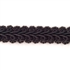 antique braided trim, fabric trim, 09231, vintage lace, jet black trim, lace trim, rope lace trim, lace trim, fancy trim, vintage braided trim