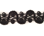 antique braided trim, fabric trim, 09232, vintage lace, jet black trim, lace trim, rope lace trim, lace trim, fancy trim, vintage braided trim