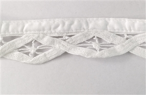 antique lace, bias lace trim, 09233, vintage lace, white lace, lace trim, cluny lace trim, crocheted lace trim