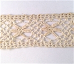 antique Irish lace, cluny lace, 09234, vintage lace, ecru lace, lace trim, cluny lace trim, crocheted lace trim