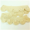 Vintage Lace, Crocheted Lace, 18 Inches  Long and 1 1/2 Inches Wide