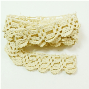 Vintage Lace, Crocheted Lace, Four Feet Long and 3/4 Inch Wide