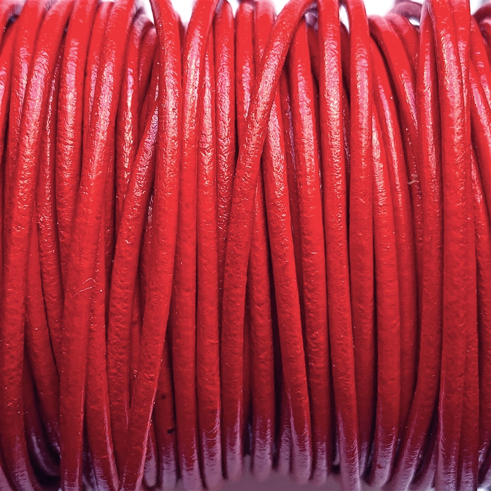 red Indian leather, round beading jewelry, craft cord, leather cord, red, jewelry leather, cow leather, jewelry cord, 2mm thick, jewelry making, vintage supplies, jewelry leather cord, jewelry supplies, B'sue Boutiques, 01228