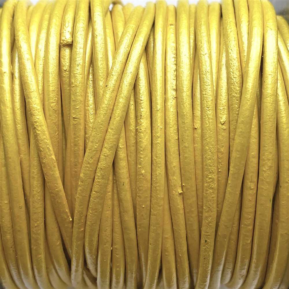 metallic mustard Indian leather, round beading jewelry, craft cord, leather cord, metallic mustard, jewelry leather, cow leather, jewelry cord, 2mm thick, jewelry making, vintage supplies, jewelry leather cord, jewelry supplies, B'sue Boutiques, 01231