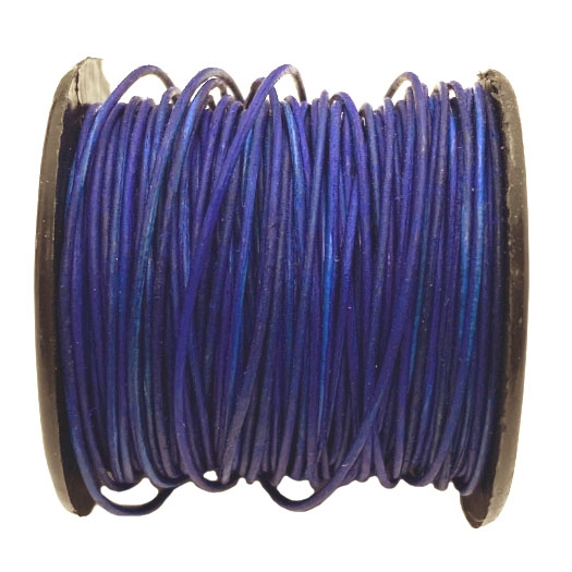 Antique Navy Blue Indian leather, beading supplies, craft cord, leather cord, blue cord, jewelry leather, cow leather, jewelry cord, .5mm thick, 1/2 mm, jewelry making, vintage supplies, jewelry leather cord, jewelry supplies, B'sue Boutiques, 04390
