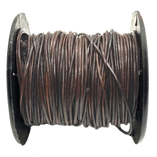 Antique Brown Indian leather, beading supplies, craft cord, leather cord, brown cord, jewelry leather, cow leather, jewelry cord, .5mm thick, 1/2 mm, jewelry making, vintage supplies, jewelry leather cord, jewelry supplies, B'sue Boutiques, 04392