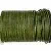 Natural green Indian leather, round beading jewelry, craft cord, leather cord, green,  jewelry leather, leather, jewelry cord, 2mm thick, jewelry making, vintage supplies, jewelry leather cord, jewelry supplies, B'sue Boutiques, 05099