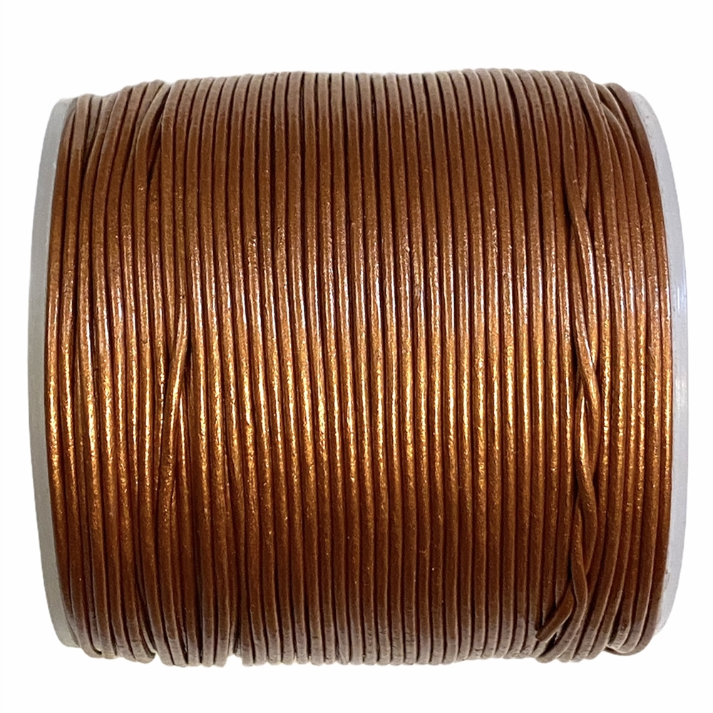 copper Indian leather, round beading jewelry, craft cord, leather cord, copper,  jewelry leather, leather, jewelry cord, 1mm thick, jewelry making, vintage supplies, jewelry leather cord, jewelry supplies, B'sue Boutiques, 05103