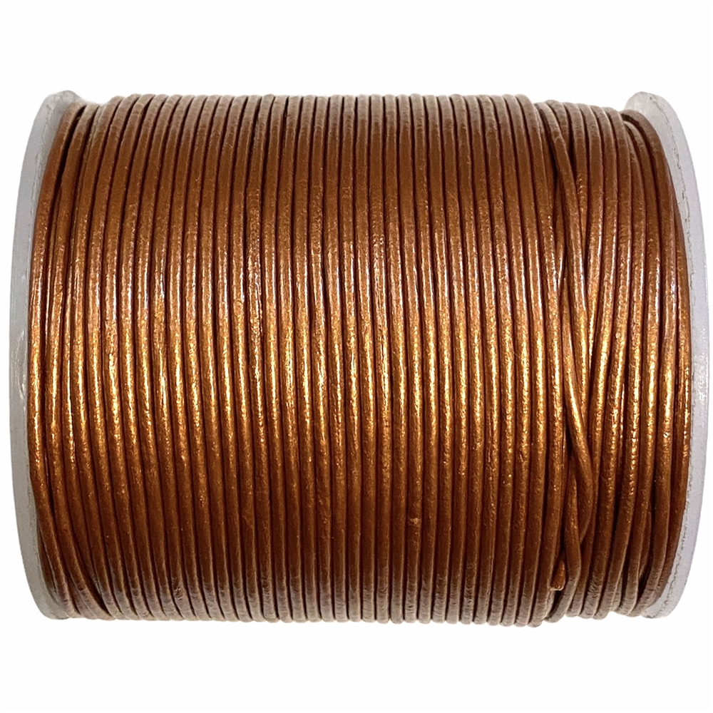 copper Indian leather, round beading jewelry, craft cord, leather cord, copper,  jewelry leather, leather, jewelry cord, 1.5mm thick, jewelry making, vintage supplies, jewelry leather cord, jewelry supplies, B'sue Boutiques, 05105