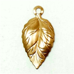 brass leaves, raw brass, 34mm