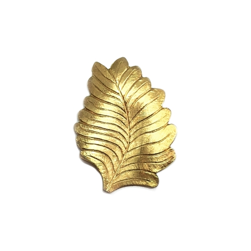 vintage style leaf stamping, left facing, leaf, stamping, raw brass, unplated brass, antique brass, brass, US made, 27x21mm, vintage style, left leaf, brass stamping, jewelry making, vintage supplies, jewelry supplies, B'sue Boutiques, 01482