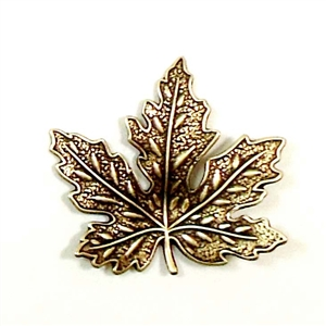 brass leaves, maple leaves, jewelry supplies,01592, 31mm, B'sue Boutiques, US Made jewelry supplies, jewelry making supplies, nickel free jewelry supplies, vintage jewellery supplies, brass ox, antique brass