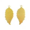 Brass Leaves, Pendant Style, Right and Left Facing, Raw Brass, 24 Gauge Brass, US Made, Nickel Free, 32 x 15mm