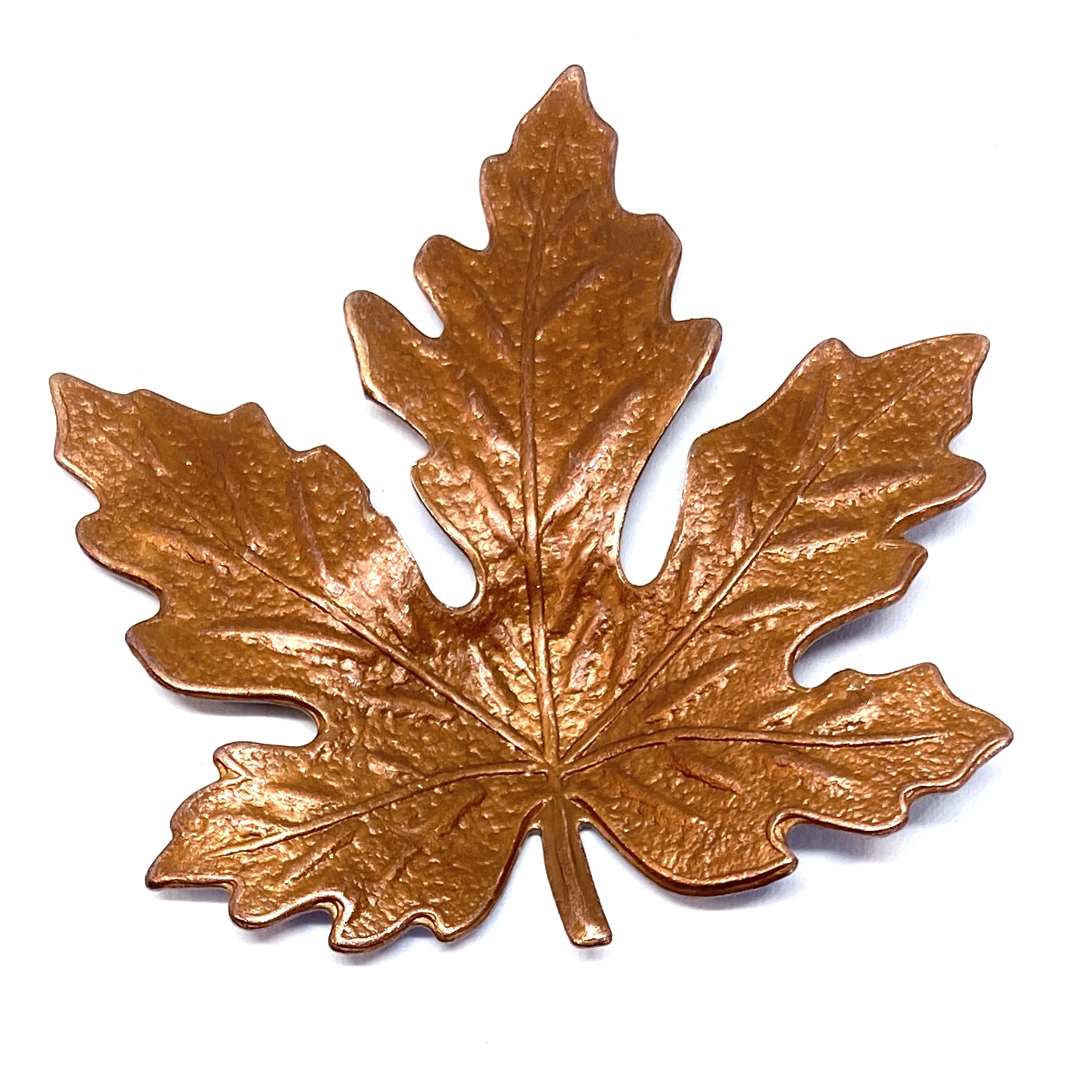 brass leaves, jewelry making, gingerbread brass, 01685, B'sue Boutiques, nickel free jewelry supplies, US made jewelry supplies, vintage jewelry supplies, maple leaves, antique copper, 41mm