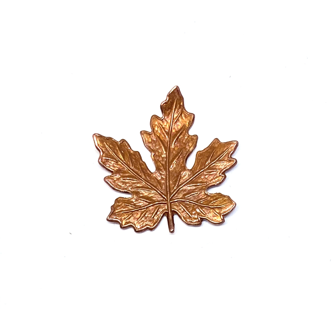 brass leaves, maple leaves, jewelry supplies, 01686, 21mm, B'sue Boutiques, US Made jewelry supplies, jewelry making supplies, nickel free jewelry supplies, vintage jewelry supplies, gingerbread brass, antique copper