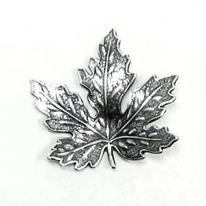 brass leaves, maple leaves, jewelry supplies,01695, 31mm, B'sue Boutiques, US Made jewelry supplies, jewelry making supplies, nickel free jewelry supplies, vintage jewellery supplies, silver plate, antique silver