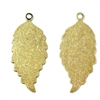 Brass Leaves, Pendant Style, Right and Left Facing, Brass Ox, 24 Gauge Brass, US Made, Nickel Free, 32 x 15mm