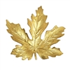 brass leaves, jewelry making, raw brass, B'sue Boutiques, nickel free, jewelry supplies, US made, vintage supplies, altered art jewelry, antique brass, 65mm, large maple leaf, leaf, maple leaf, unplated brass, brass stampings, leaf stamping, 01846